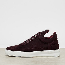 Filling Pieces Low Top Ripple Waxed Suede ox blood