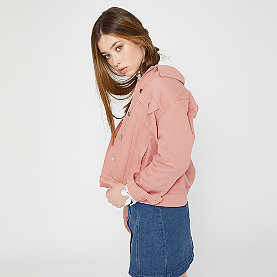 Edited Freja Denim Jacket apricot/nude/creme