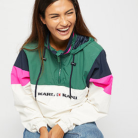 Karl Kani Block Windrunner green/white/pink