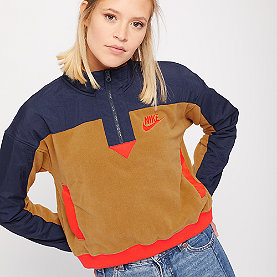 NIKE NSW Sweatshirt Polar muted bronze/obsidian/habanero red