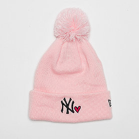 New Era New York Yankees Womens Heart Knit pnk