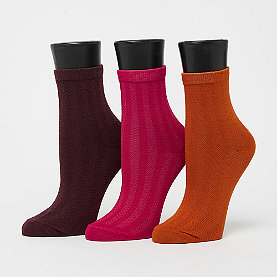 Nümph Hilma 3-Pack Socks multicolor bordeaux,curry,pink