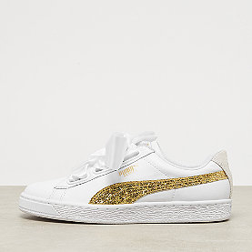 Puma Basket Heart Glitter puma white/gold