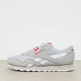Reebok CL Nylon M TXT retro-skull grey/neon cherry/ultima prple/wht