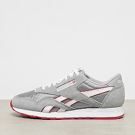 Reebok Classic Leather Nylon archive baseball grey/white/flash red