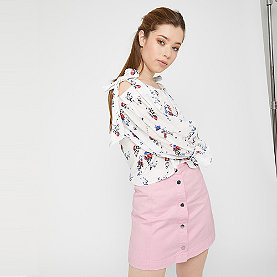 Edited Tilda Denim Skirt pink/rosa