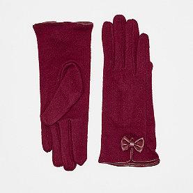 Nümph Filomena Gloves rot