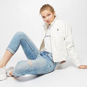 Retro Denim Jacket white