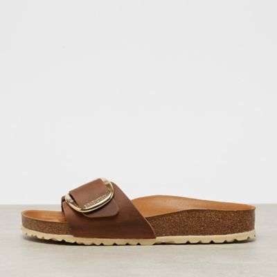 Birkenstock Madrid Big Buckle cognac