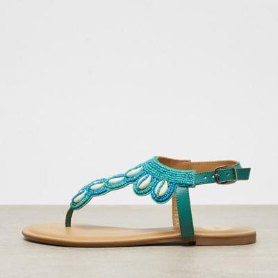Buffalo Flat Sandal Shell turquoise
