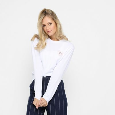 ONYGO ONYGO Wmns Longsleeve Crew Heart Embroidery white