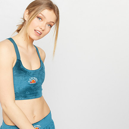 Ellesse Laura Velour Top Teal