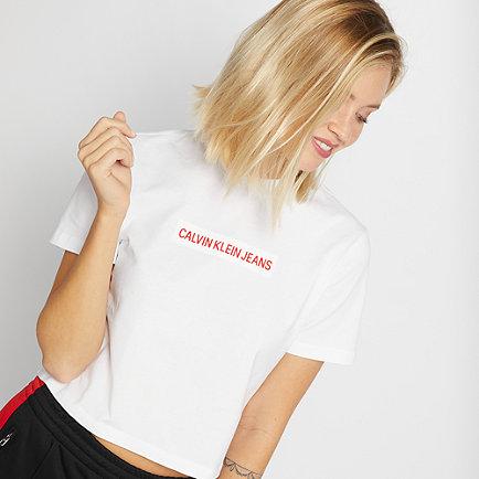 Calvin Klein Institutional Flock Box T-Shirt white