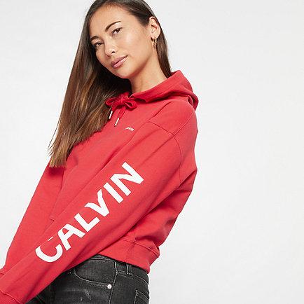 Calvin Klein Institutional Hoodie red