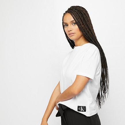 Calvin Klein Monogram Badge Boxy Fit T-Shirt bright white