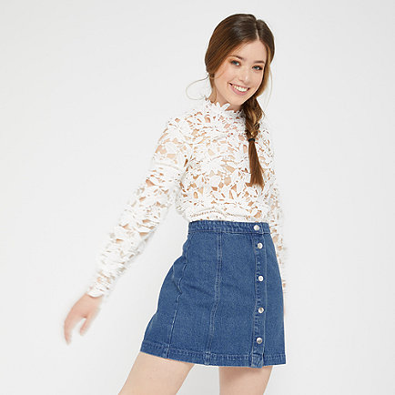Edited Tilda Denim Skirt blue denim