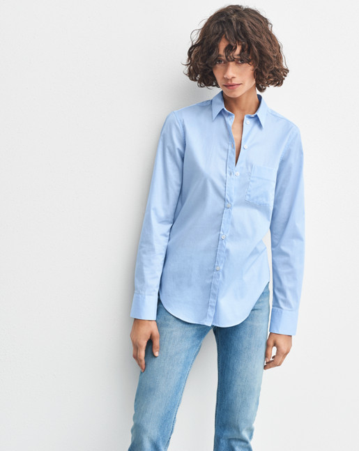 Classic Stretch Shirt Light Blue