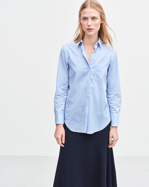 Classic Stretch Shirt Light Blue Stripe