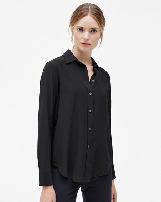 Classic Silk Shirt Black