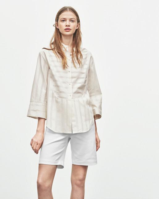 Stripe Cotton Tuxedo Shirt