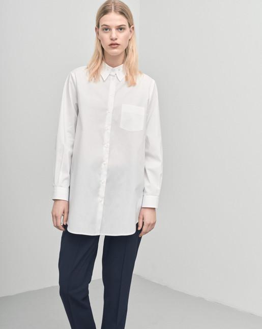 Cotton Button Down Shirt White