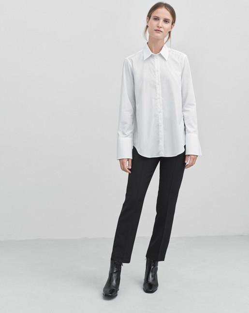 Sharp Cotton Shirt White