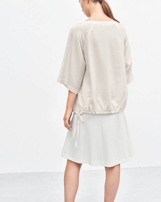 Drawstring Volume Blouse Offwhite
