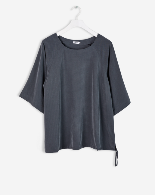 Drawstring Volume Blouse Rock