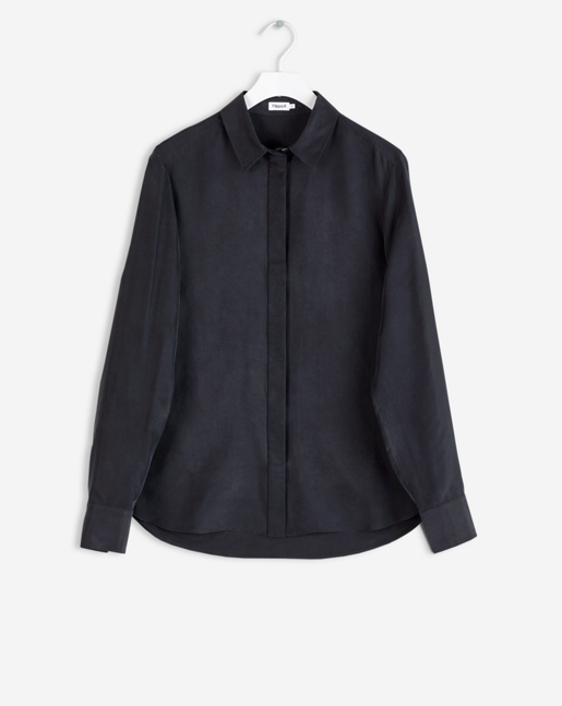 Silk Shirt Black