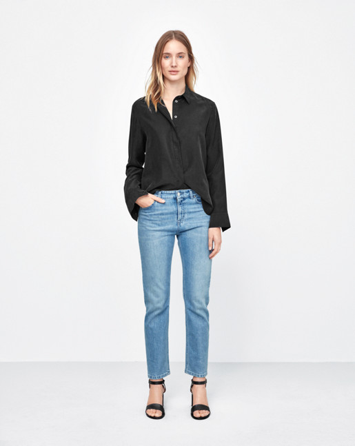 Silk Shirt Black