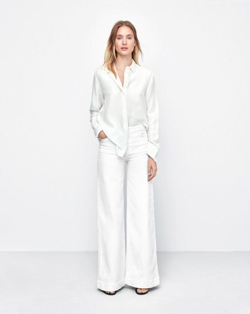 Silk Shirt Off White