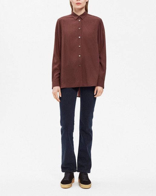 High-low Tencel Shirt Fig