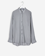 High-low Tencel Shirt Steel Grey