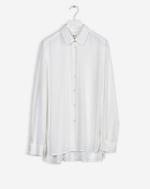 High-low Tencel Shirt White