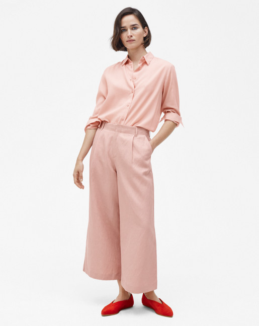 High-low Tencel Shirt Petal
