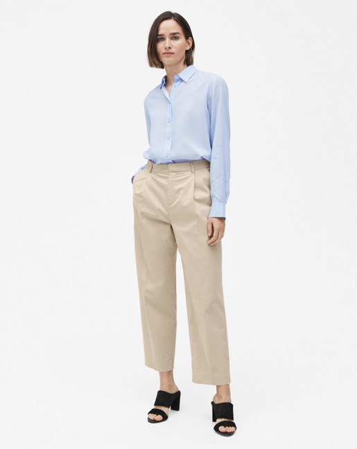 High-low Tencel Shirt Skylight
