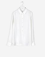 Washed Silk Shirt White