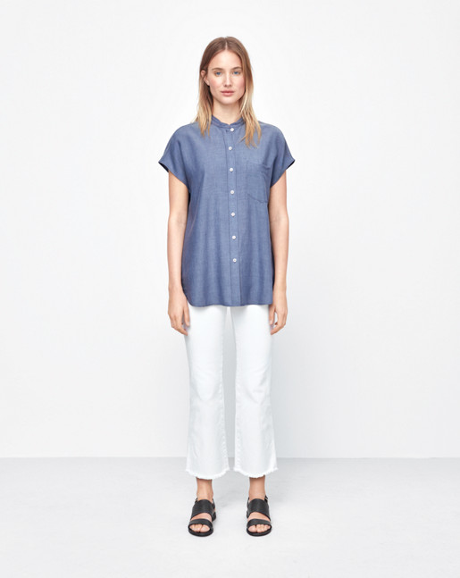 Tencel Cap Sleeve Shirt