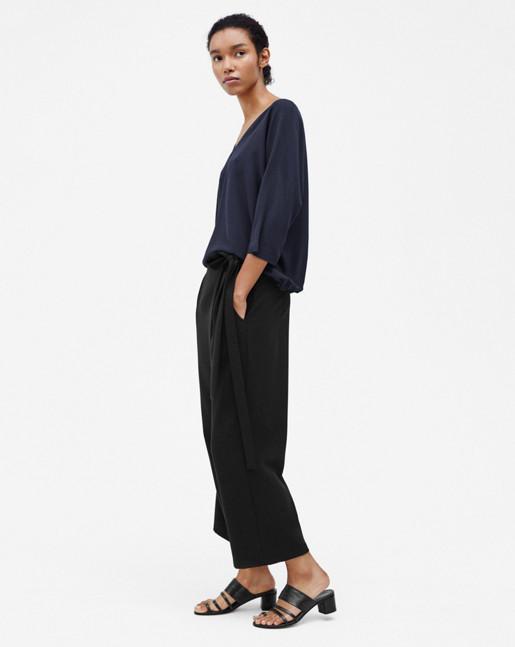Kimono Sleeve Blouse Navy