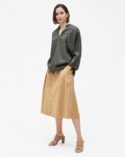 Light Pleat Blouse Sage