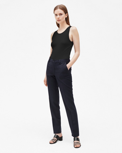 Luisa Cool Wool Slacks Dark Navy