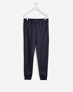 Shiny Sweat Pants Black
