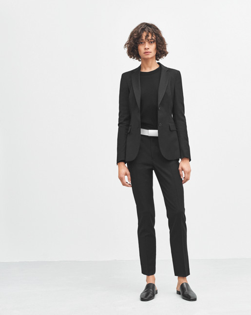 Fiona Peg Slacks Cool Wool Black