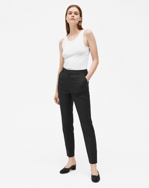 Fiona Peg Cool Wool Slacks Black