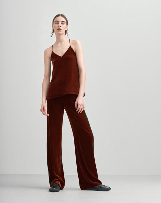 Sporty Velvet Pants Warm Red