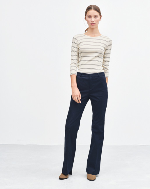 Lily Cotton Pants Navy