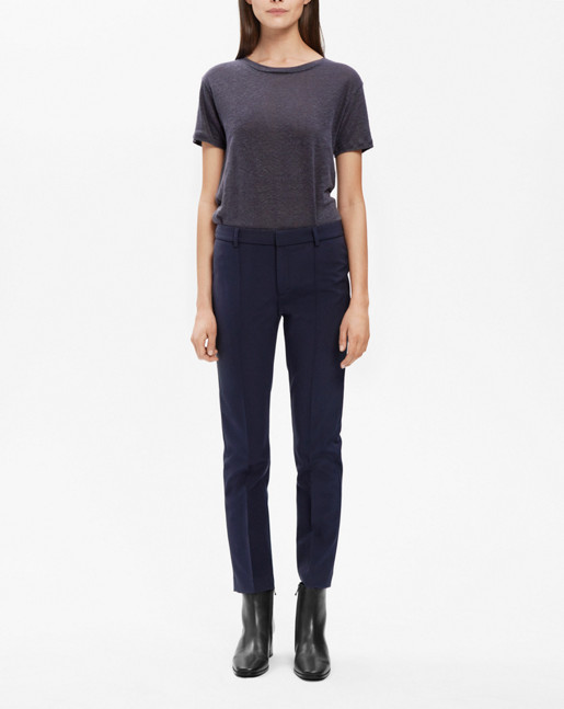 Lang Cigarette Pants Navy