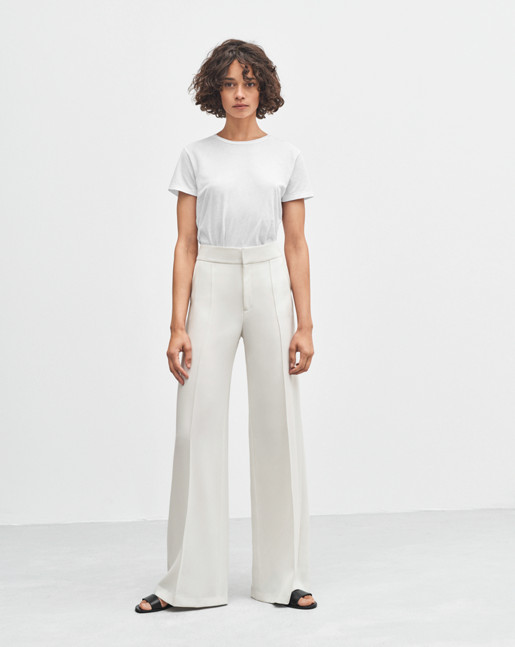Rae Wide Pants Off White