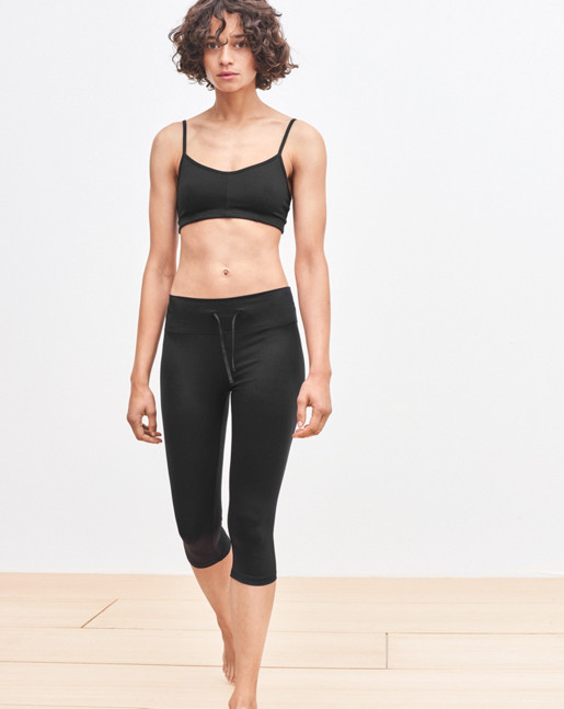 Yoga Knee Leggings Black