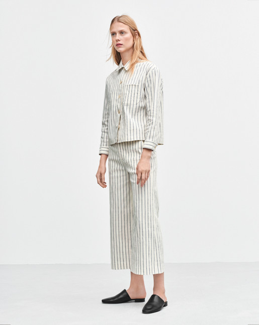 Flyn Cropped Stripe Pants